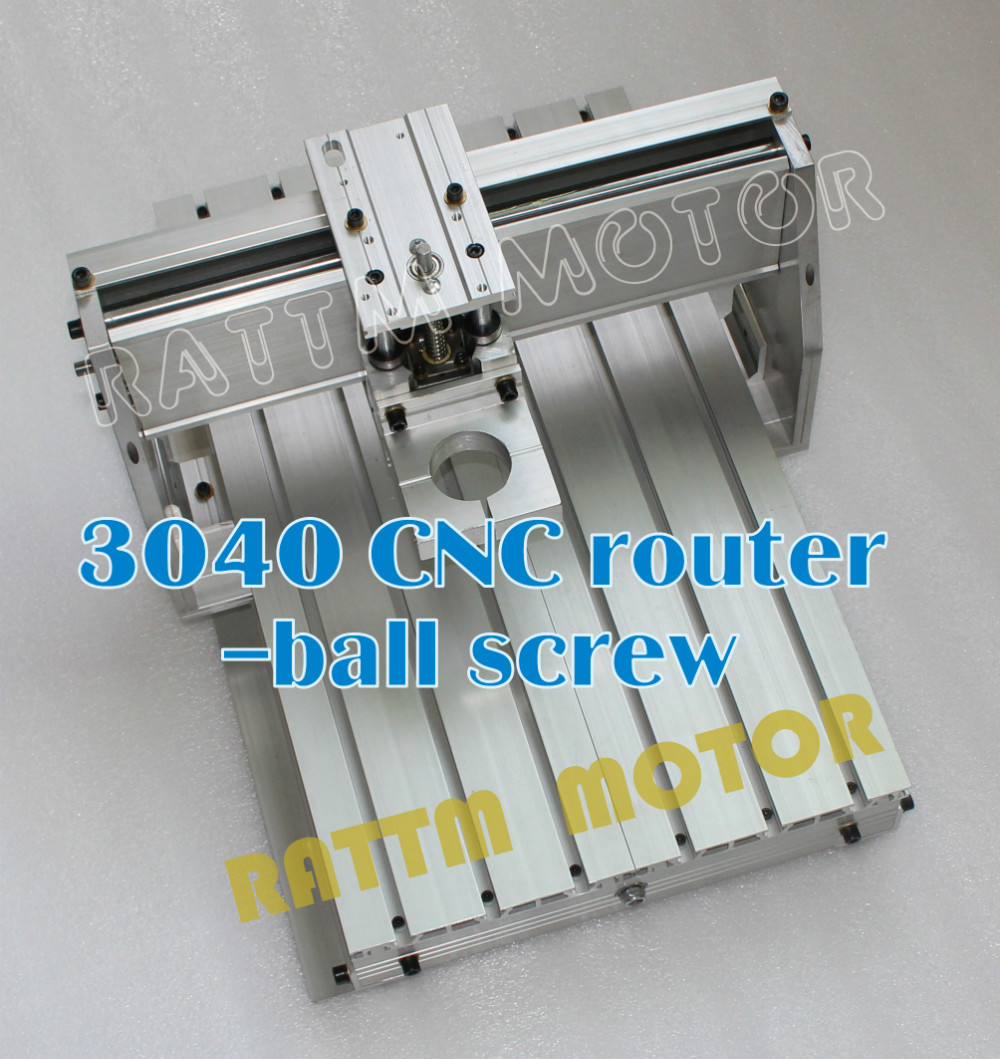 EU Delivery!!! 3040 CNC aluminium alloy Frame ball screw with 43mm Neck Spindle Mount new design 3040 cnc frame cnc 3040 mini lathe free tax to ru eu