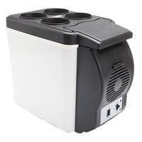 Mini Auto Car Refrigerator 6L 12V Travel Fridge Portable Freezer Automotive or Home Heating Multi Function Car Refrigerator