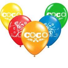En gros 10 pièces/lot Coco Latex Ballon joyeux anniversaire décorations Globos jouets pour enfants célébration fournitures Ballon