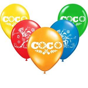 Image 1 - En gros 10 pièces/lot Coco Latex Ballon joyeux anniversaire décorations Globos jouets pour enfants célébration fournitures Ballon