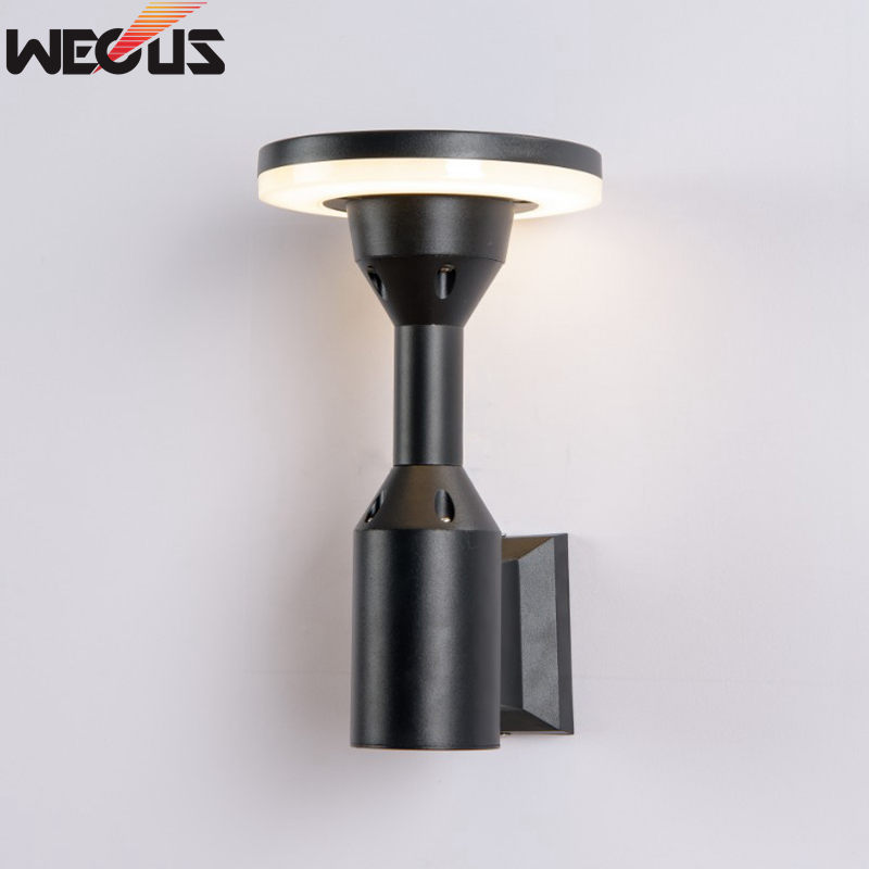 Patented mold design, die-cast aluminum, Modern Waterproof (real IP55) LED Wall Light Outdoor Round Wall Lamp AC 85-265V 12W rouda best 36w 36 led wall light die casting aluminum modern cuboid wall lamp outdoor decoration home lighting ac 85 265v