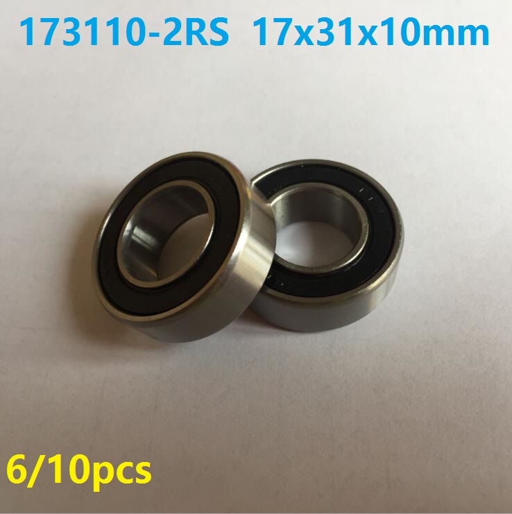 6pcs or 10pcs 173110-2RS 17x31x10 mm bearing Steel Si3n4 ceramic bearing 173110 2RS ball bearing for bicycle bottom bracket abxg 23327 2rs speed connection drum bearing 23327 2rs for sram bicycle hub repair parts bearing 23x32x7 mm 23 32 7 mm