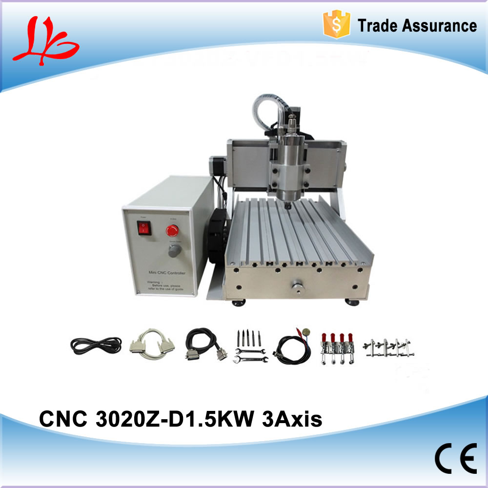 CNC 3020 3 axis +1.5KW spindle cnc router engraver / milling machine for metal wood stone marble working
