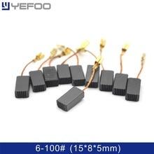YEFOO 2PCS/5PCS/10PCS 15*8*5mm Repair Parts 6-100# GWS6-100 Electric Motor Carbon Brushes for Generic BOSCH Markita power