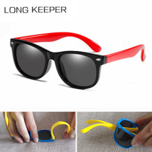 2019 New Kids Silica Soft Sunglasses Polarizing Square Boys and Girls