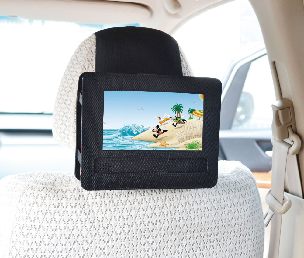 tfy car headrest mount holder for swivel and flip style 7 inch portable dvd player
