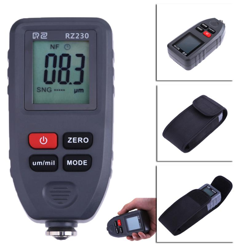 Digital Paint Meter Coating Thickness Gauge 0-1300um Paint Film Metal Surface Tester Car Coating Paint Thickness Gauge Meter brand genuine amittari wet film thickness comb thickness gauge meter tester 25 2032um 1 80mil paint coating