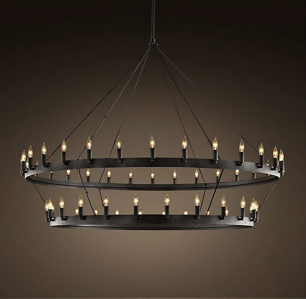 """Replica item America Style Industry Country High quality replica Chandelier CAMINO VINTAGE CANDELABRA TWO TIER CHANDELIER 62""""