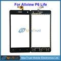 """Высокое Качество 5.0 """"Для Allview P6 Life Сенсорным Экраном Дигитайзер Передняя Стеклянная Панель Датчик Черный Цвет"""