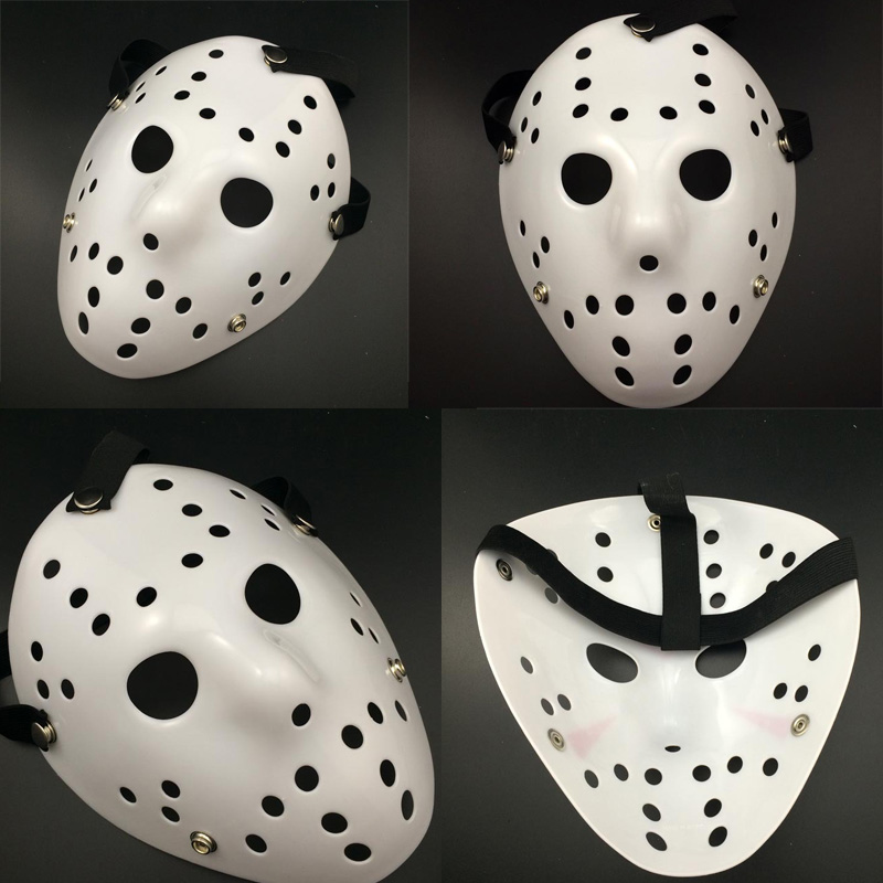 aliexpresscom buy 10pclot 2016 halloween white porous men mask jason voorhees freddy horror movie hockey scary masks for party women masquerade from - Scary Movie For Halloween