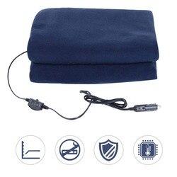 Araba Malzemeleri Kış Sıcak Lacivert Polar 12 v 135 cm Anahtarı Kontrol Araba Sabit Sıcaklık ısıtıcılı battaniye Araba Elektrikli Battaniye