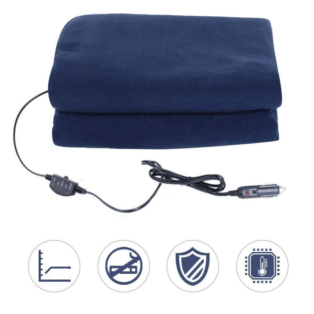 Auto Liefert Winter Heißer Navy Blau Fleece 12 v 135 cm Switch Control Auto Konstante Temperatur Heizung Decke Auto Elektrische decke