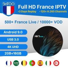 IPTV France Italia Turkey Portugal IP TV 1 Year Android 9.0 Box HK1 MAX USB3.0 2G+16G Subscription Spain DATOO