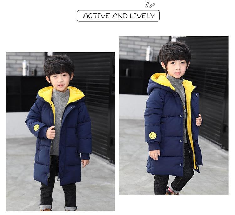 2018 Winter Girls Warm Jacket Kids Long Style Hooded Coat Children Plus Velvet Cotton Jacket Girl Thick Cotton Padded Outwear (12)