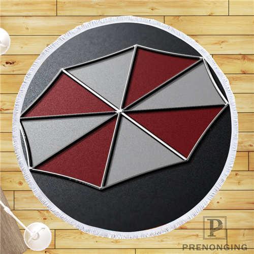 Custom DIY Customized Microfiber Fabric resident_evil_umbrella_ Round Beach Blanket Towel Printed on Demand 150cm #19 01 28 97