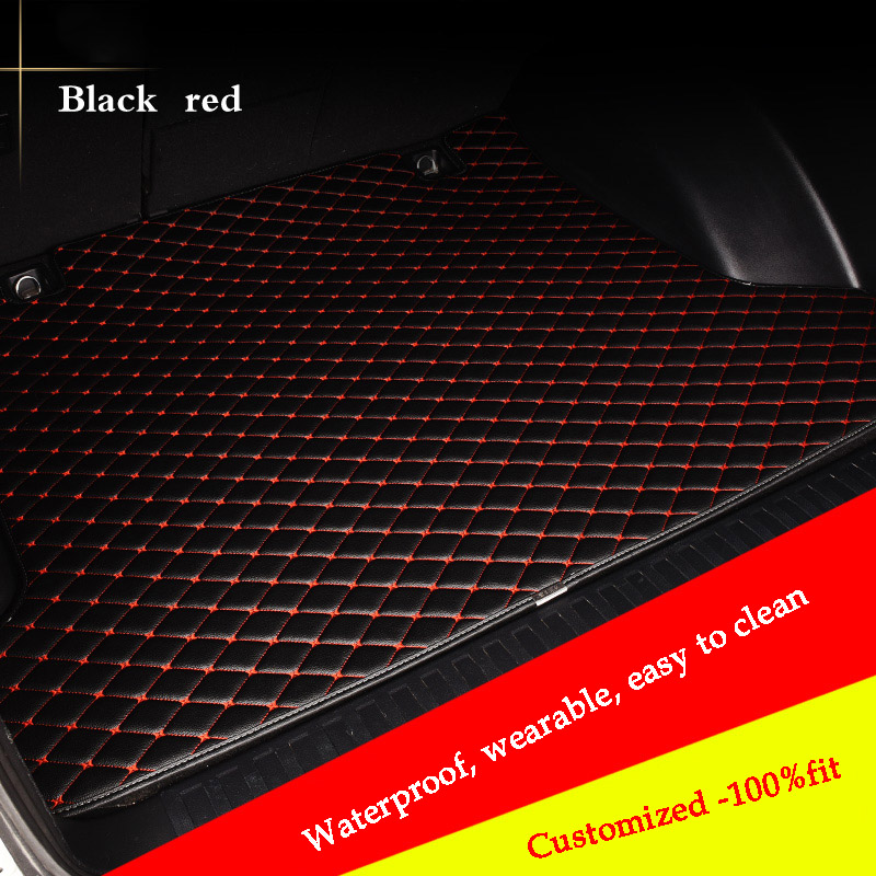 custom car trunk mat for peugeot 307 206 308 407 207 406 408 301 3008 Cargo Liner car accessories car mat car rear trunk security shield cargo cover for volkswagen vw tiguan 2016 2017 2018 high qualit black beige auto accessories