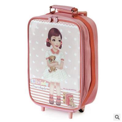 kids wheeled suitcase for Girls Children travel Bag On wheels Girls Travel Trolley suitcas bag luggage Rolling Bags Mochila