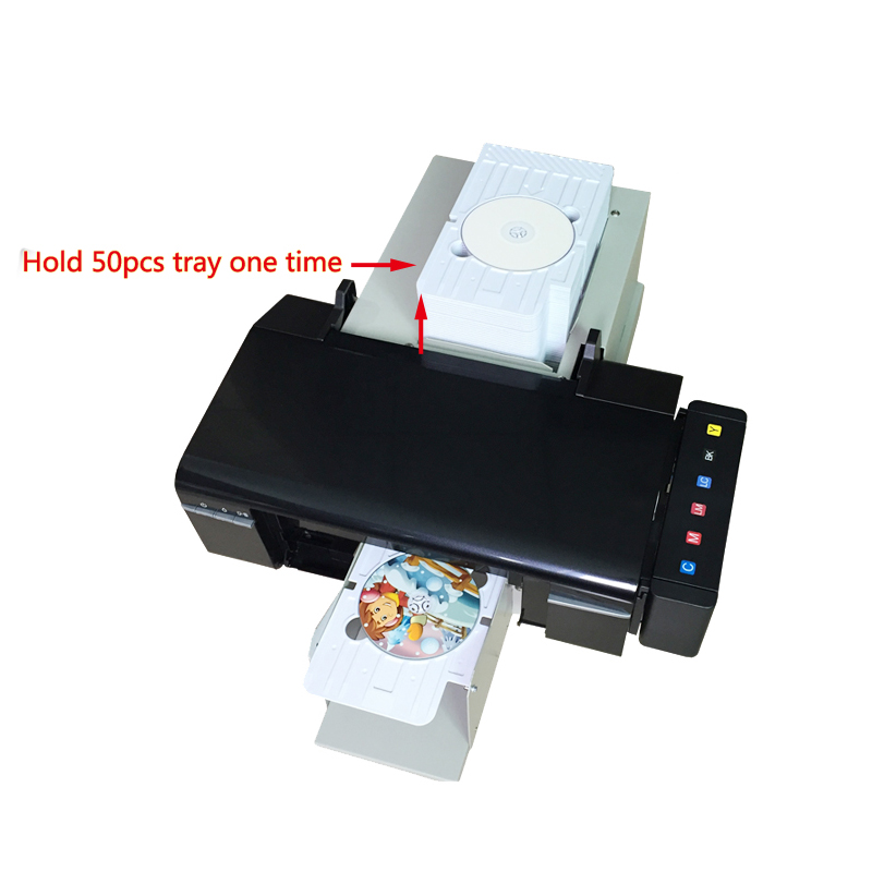 Automatic L800 CD DVD printer PVC card printer with 51pcs tray for CD/DVD Disc Printing Machine for epson l800 high speed cd card automatic printer pvc id card printer export version with 51pcs pvc tray for pvc card
