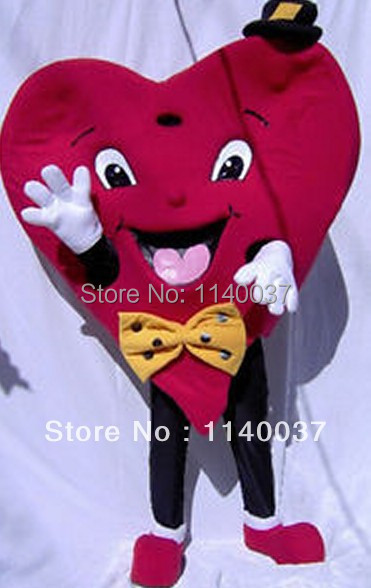mascot Red Valentines Heart Mascot Costume Adult Size Valentines Heart Mascotte Outfit Suit Party Fancy Dress