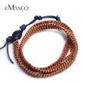 Cadeia de liga de zinco com corda de algodão design simples pulseiras para homens e mulheres eManco 2016 pulseira de corda de couro jóias BL06379