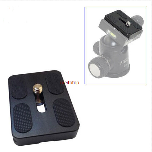 купить Universal digital camera 10pcs PU-50 Quick Release Plate PU 50 stander for Benro B0 B1 B2 J1 N1 Tripod Ballhead Arca Swiss по цене 1849.94 рублей
