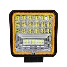 126 W LED עבודה אור מרובע כפול צבע אוטומטי עבודת אור IP68 Class עמיד למים וdustproof Offroad טרקטורונים משאית טרקטור רכב אור