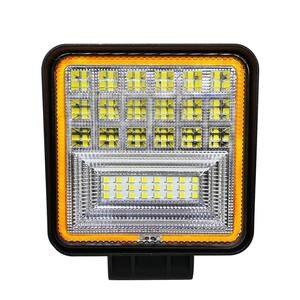 Image 1 - 126 W LED luz de trabajo cuadrado doble Color Auto luz de trabajo IP68 clase impermeable y a prueba de polvo todoterreno ATV camión Tractor luz del coche