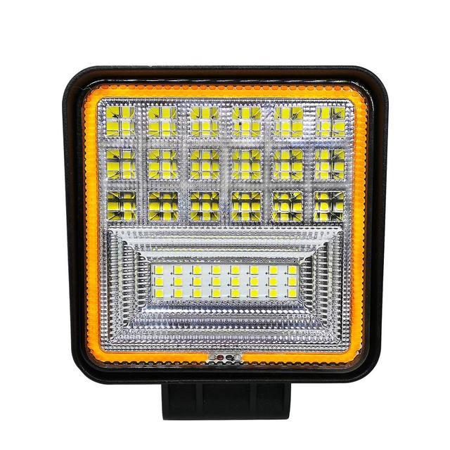 126 W LED luz de trabajo cuadrado doble Color Auto luz de trabajo IP68 clase impermeable y a prueba de polvo todoterreno ATV camión Tractor luz del coche
