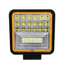 126 W ĐÈN LED Làm Đèn Vuông Đôi Màu Tự Động Làm Việc Đèn IP68 Lớp Chống Thấm Nước và Chống Bụi Offroad ATV Xe Tải Đầu Kéo ô tô