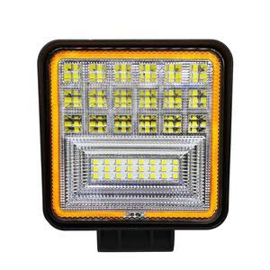 Image 2 - 126W LED luz de trabajo cuadrado doble Color funcionamiento automático luz todoterreno ATV camión Tractor Auto luz IP68 clase impermeable y a prueba de polvo