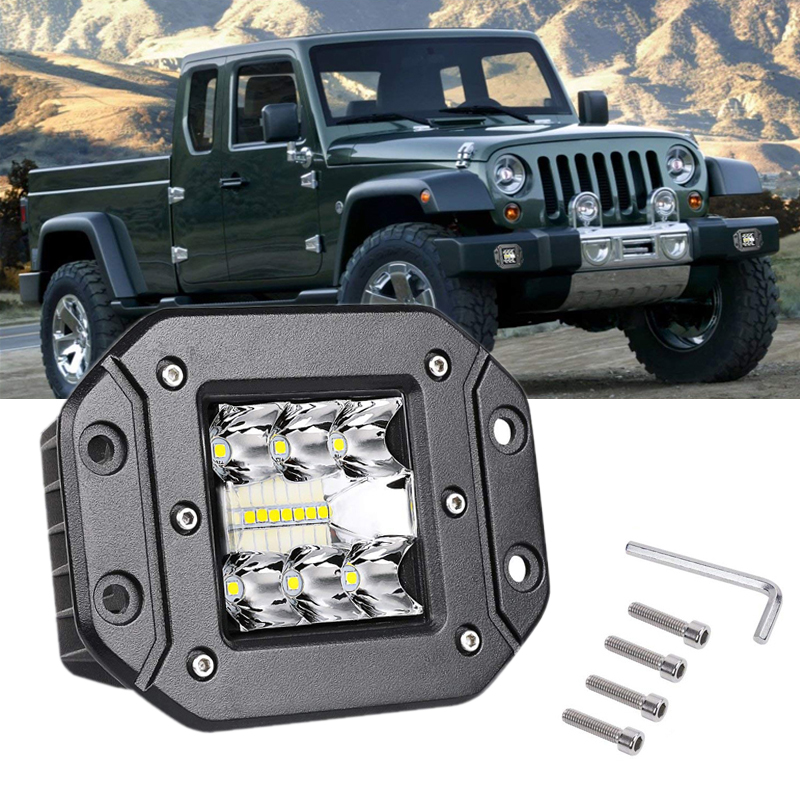 1pcs 5 Inch 39w Ip68 Offroad Led Light Bar For Cars Work