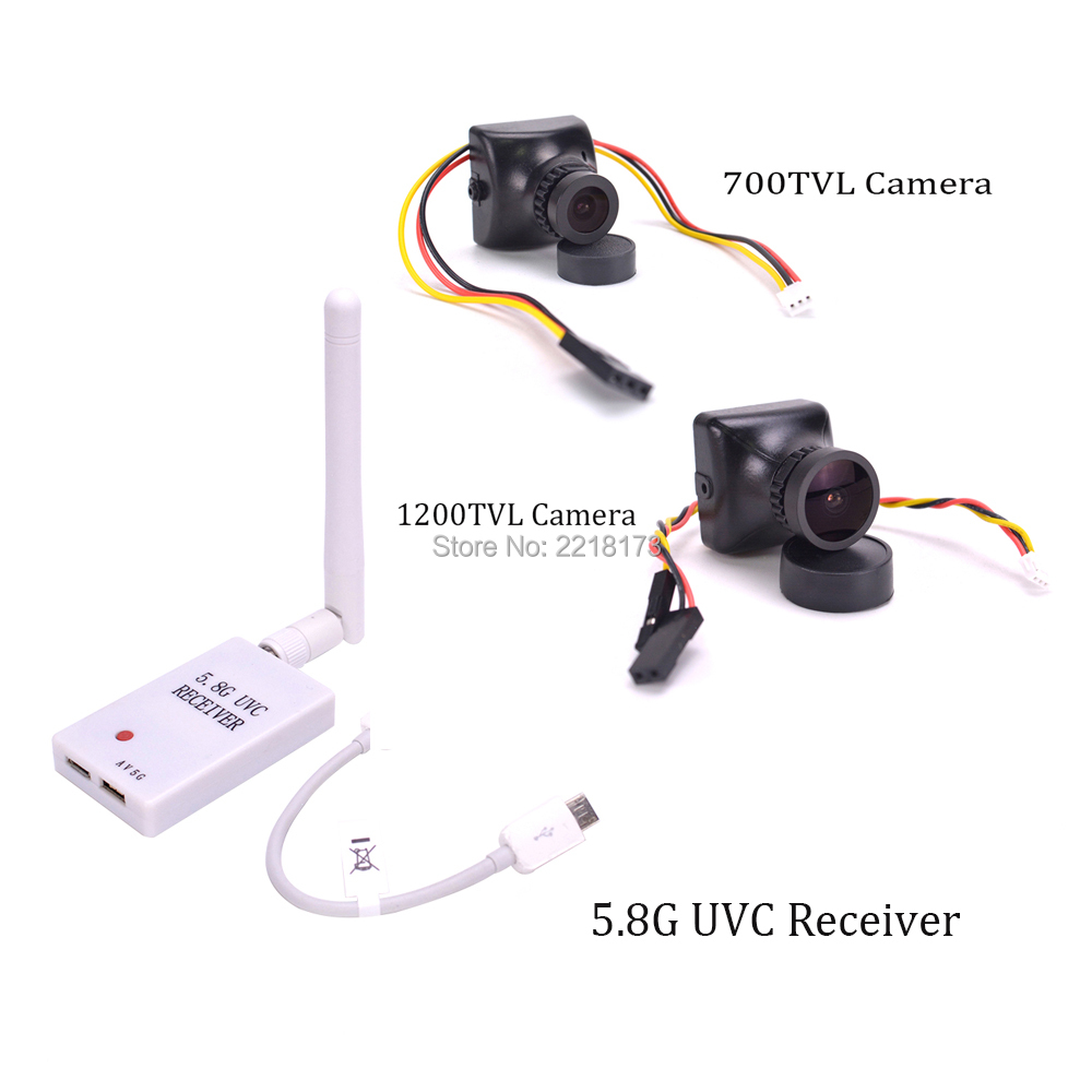 Mini 5.8G FPV Receiver UVC Video Downlink OTG 700TVL / 1200TVL 2.8mm Lens COMS Camera PAL / NTSC for ZMR250 FPV Quadcopter aomway 700tvl hd 1 3 cmos fpv camera pal