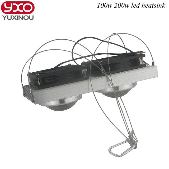 Us 378 16 Off100 W 200 W High Power Led Obiektyw Doprowadziły Radiator Chłodzenia Radiatora Z Fanami Do Led Pełne Spektrum Rosną światła