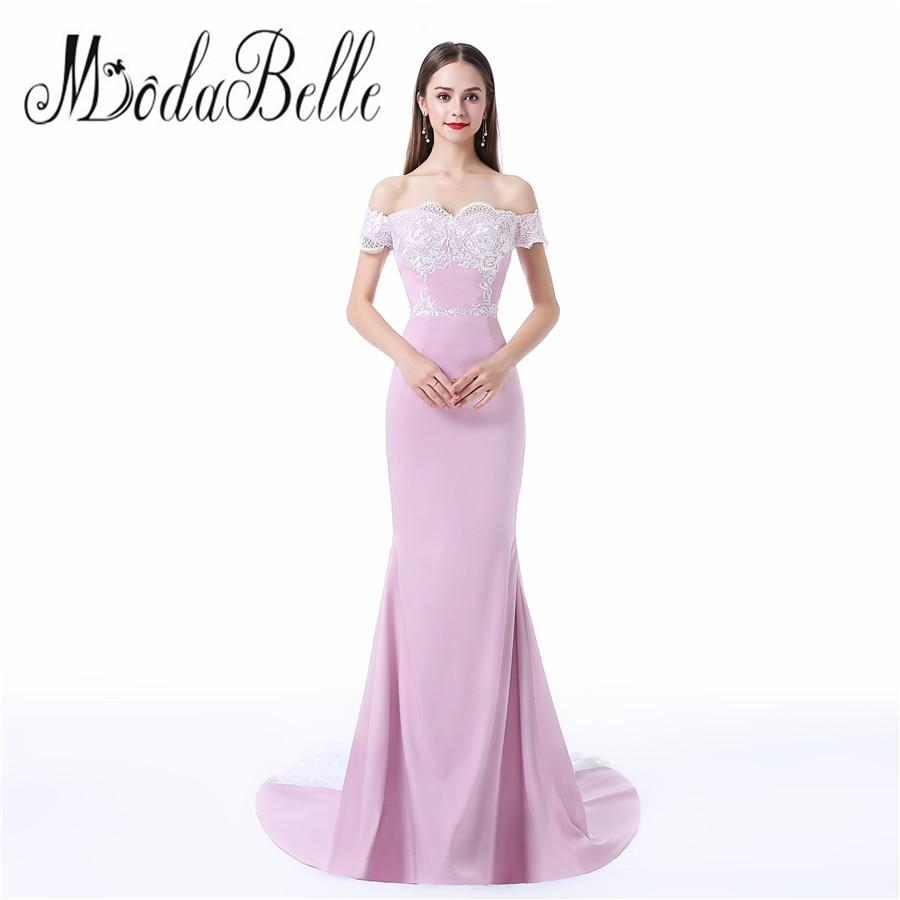 Maternity prom dress prom dress for pregant women - Modabelle Maternity Evening Dresses For Pregnant Women Lace Beaded Side Slit Off The Shoulder Mermaid Pregnant