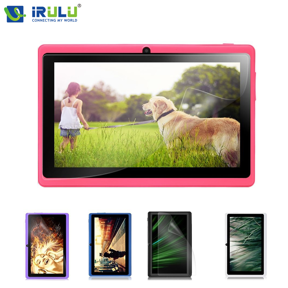 iRULU eXpro X3 7''Tablet Allwinner Android 4.4 Quad Core Tablet Dual Cam 8GB ROM WiFi Multi LCD Touch Screen Protector case Gift yuntab7 inch quad core q88 1 5ghz android 4 4 tablet pc q88 allwinner a33 512mb 8gb capacitive screen 1024x600 dual camera wifi