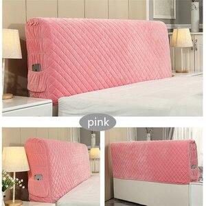 Image 5 - İskandinav tarzı yatak örtüsü 120 220cm herşey dahil kumaş nevresim toz geçirmez elastik çift yatak başlığı kapağı koruyucu kapak
