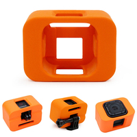 For Gopro Hero 4 5 Session Camera Floating Buoy Cover For Gopro Accessories Waterproof Shell Orange Protective Case