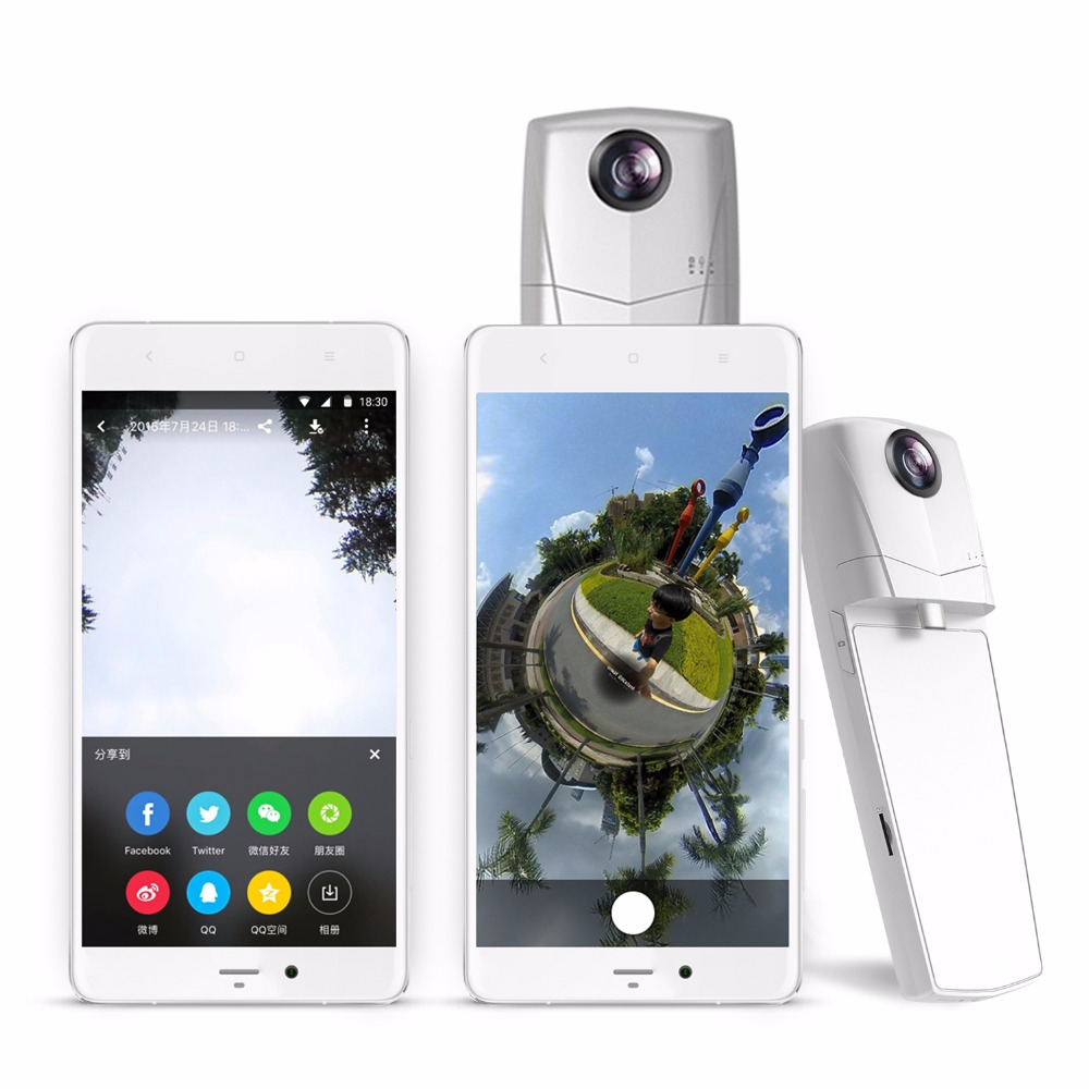 Mini 360 Video camera Panorama 3D VR Camera 360 degree Cam show video in facebook