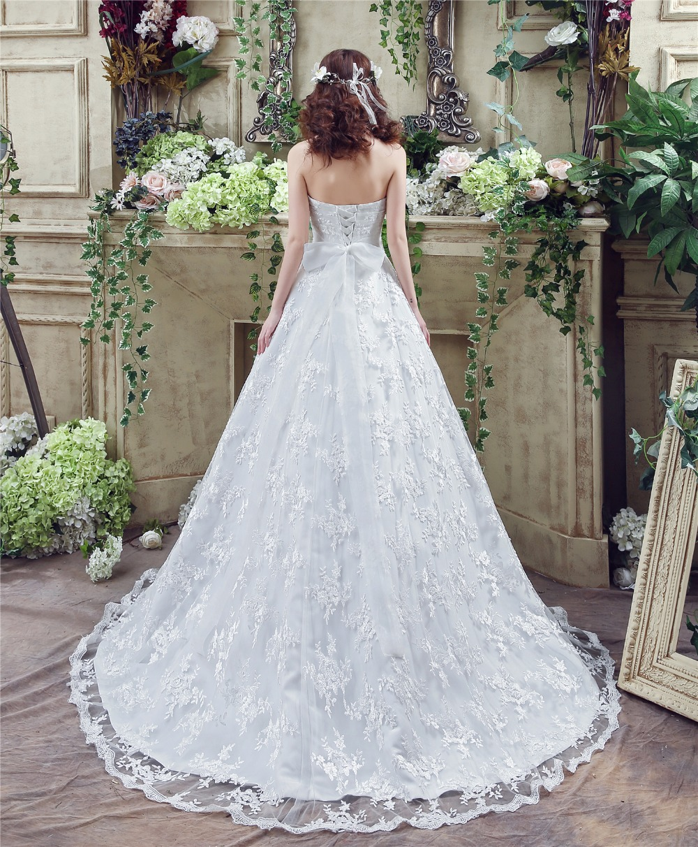 Robe de mariee estilo occidental Encaje Vestidos de novia 2018 ...