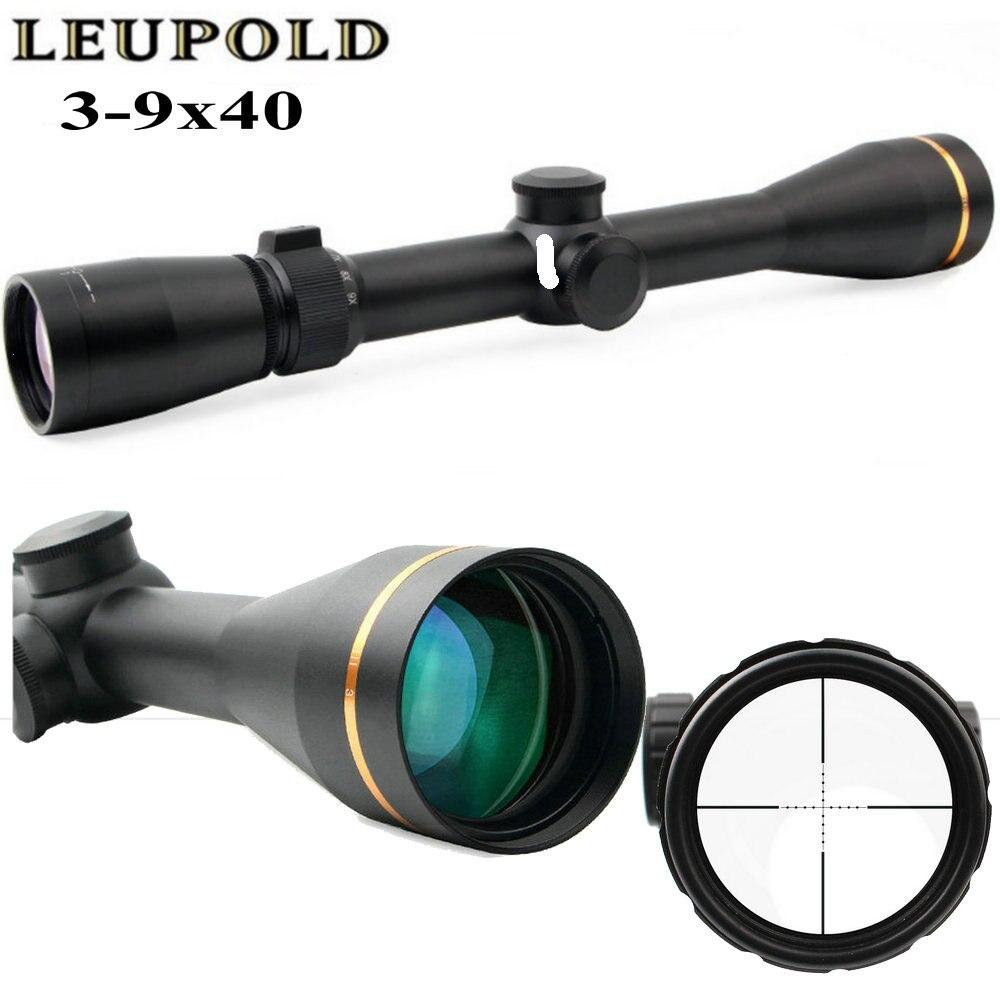 LEUPOLD 3-9x40 Hunting Scopes Optics Rifle Scope Reticle Illuminated With Mount Cover Hunting Trail Riflescope Airsoft hunting 3 9x40 optics illuminated tactical rifle scope
