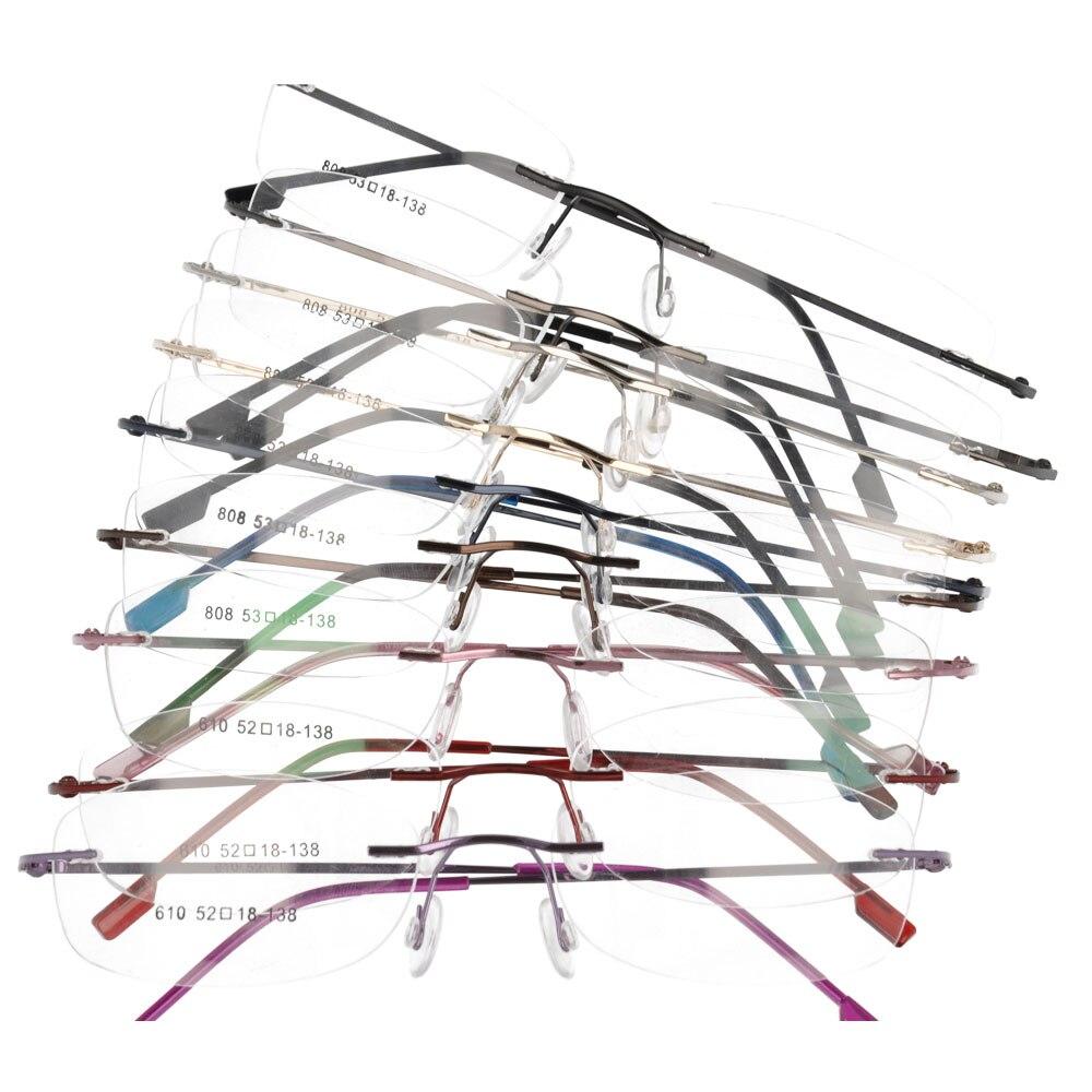 Monture sans monture en métal à charnière optique montures lunettes lunettes 50 pièces/lot 808