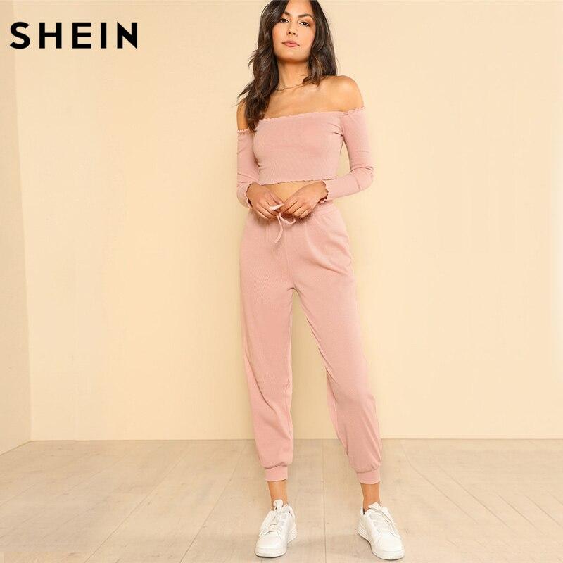 SHEIN Casual Pink Woman Set 171206701