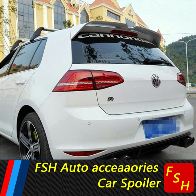 for vw golf 7 spoiler high quality abs material car rear. Black Bedroom Furniture Sets. Home Design Ideas