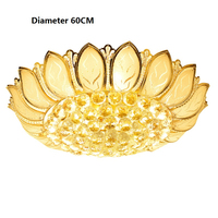 Modern Lustre Crystal Gold Ceiling Light Glass Abajur Ceiling Lamp For Living Room lampara led techo Home Lighting luminaria