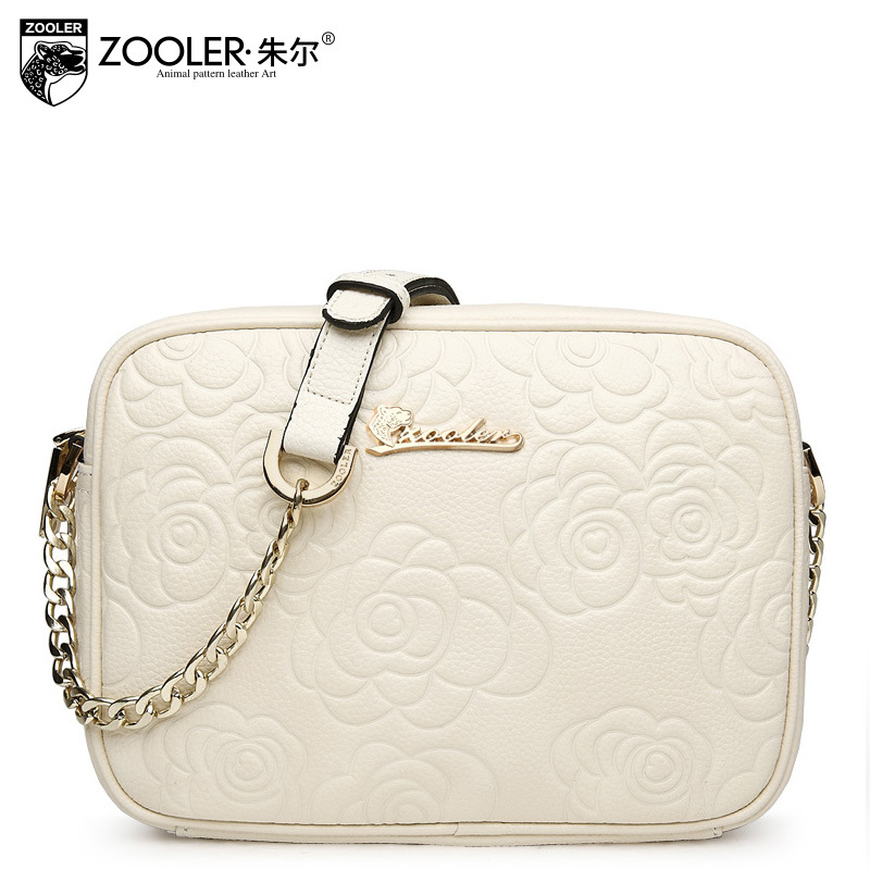 ZOOLER Women Vintage Floral Small Genuine Leather Bag Ladies Retro Casual Embossing Flower Chain Messenger Shoulder Bags Bolsas 2017 fashion all match retro split leather women bag top grade small shoulder bags multilayer mini chain women messenger bags