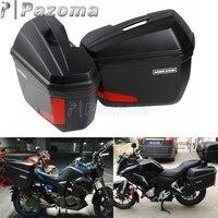 1 пара универсальных мотоциклов 20L боковые Чехлы панниры хвост верхней коробки багаж грузовой ящик w/светодиодный свет для BMW Honda Kawasaki Suzuki