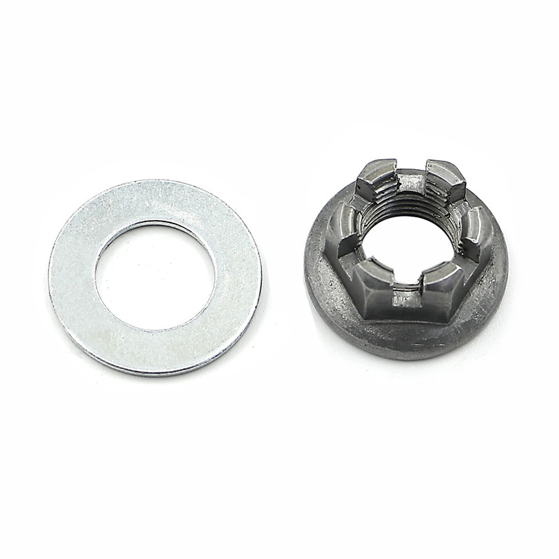 1 Set Rear Axle Castle Hub Nut Washer For Yamaha Banshee Blaster Raptor Warrior Raptor 350 660 Blaster YFZ450 Breeze Grizzly