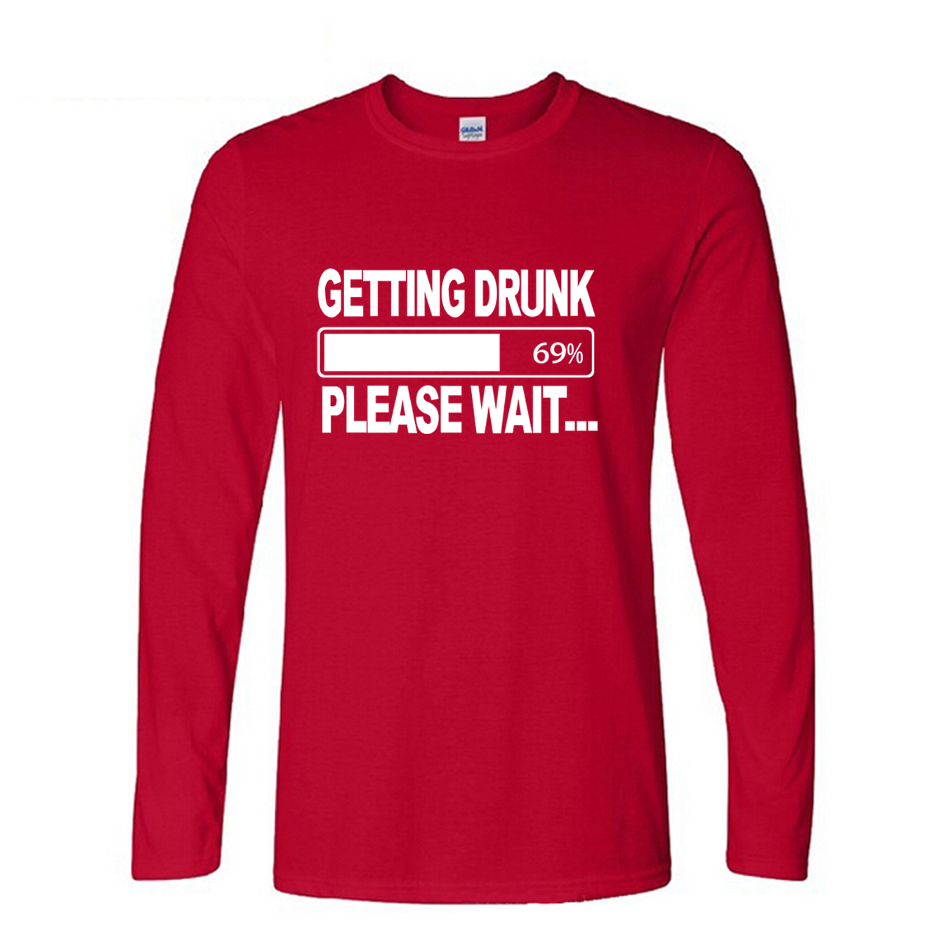 getting Drunk Beer Stag Party Gift Funny Mens T Shirt 2016 new fashion cotton tops tee shirts men brand long sleeve men t shirts с длинным рукавом