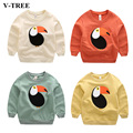 V-TREE Children's T-shirts Spring Long Sleeves Kids Tops Bird Clothes For Boys And Girls T-shirts Cotton Cartoons