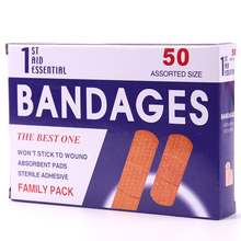 50PCS/Box Band Aid Hemostasis Adhesive Bandages Wound Dressings Sterile Stickers Emergency Kit